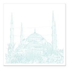 "Istanbul_10x10_BlueMosqu Square Car Magnet 3"" x 3"""