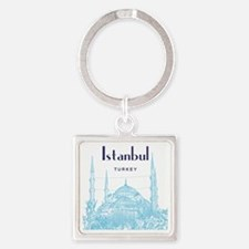 Istanbul_10x10_BlueMosque_Blue Square Keychain