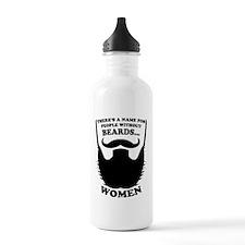 Funny Beard Saying Water Bottle