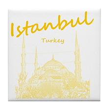 Istanbul_12X12_BlueMosque_Yellow Tile Coaster