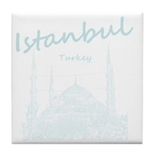 Istanbul_12X12_BlueMosque_BlueLight Tile Coaster