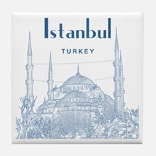 Istanbul_10x10_BlueMosque_Blue2 Tile Coaster