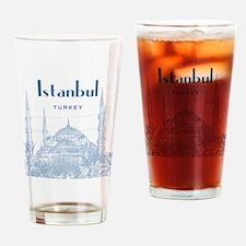 Istanbul_10x10_BlueMosque_Blue2 Drinking Glass