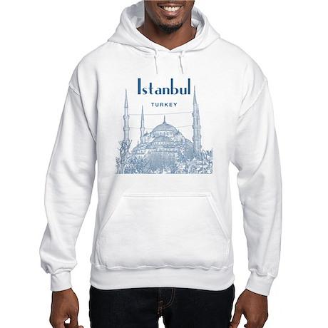 Istanbul_10x10_BlueMosque_Blue2 Hooded Sweatshirt