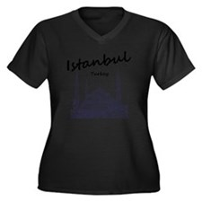 Istanbul_12X Women's Plus Size Dark V-Neck T-Shirt