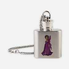 Pink Fairy Flask Necklace