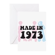 Made In 1973 Greeting Cards (Pk of 10)