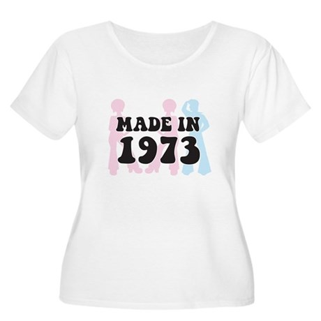 Made In 1973 Women's Plus Size Scoop Neck T-Shirt