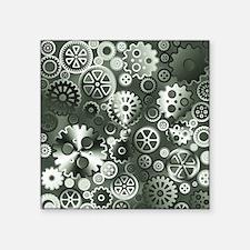 """Steel gears Square Sticker 3"""" x 3"""""""