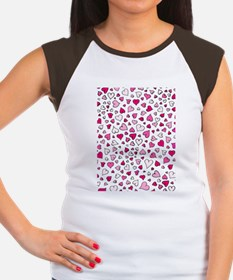 Hearts Women's Cap Sleeve T-Shirt