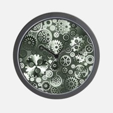 Steel gears Wall Clock