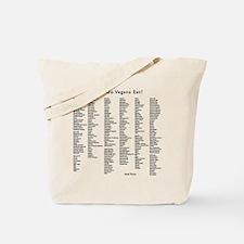 what do vegans eat Tote Bag