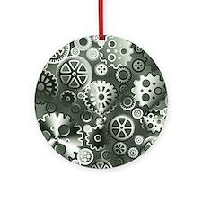 Steel gears Round Ornament