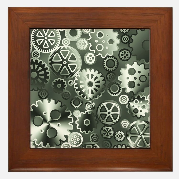 Steel gears Framed Tile