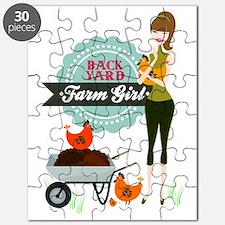 Backyard Farm Girl Puzzle