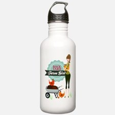Backyard Farm Girl Water Bottle