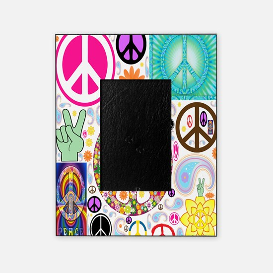 Peace  Paisley Collage FF Picture Frame