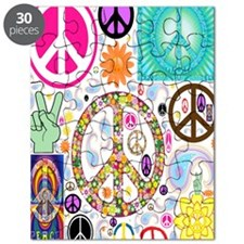 Peace  Paisley Collage FF Puzzle