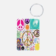 Peace  Paisley Collage FF Keychains