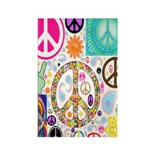 Peace  Paisley Collage FF Rectangle Magnet