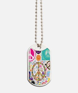 Peace  Paisley Collage FF Dog Tags