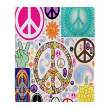 Peace  Paisley Collage FF Throw Blanket