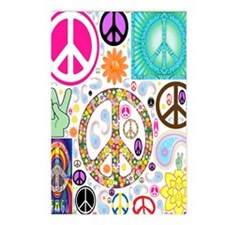 Peace  Paisley Collage FF Postcards (Package of 8)