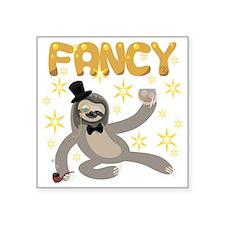 "Fancy Sloth Square Sticker 3"" x 3"""
