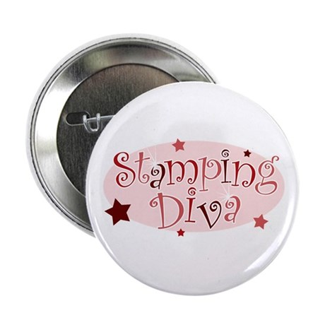 """""""Stamping Diva"""" [red] Button"""