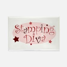 """Stamping Diva"" [red] Rectangle Magnet"