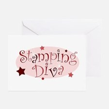 """""""Stamping Diva"""" [red] Greeting Cards (Pk of 10"""