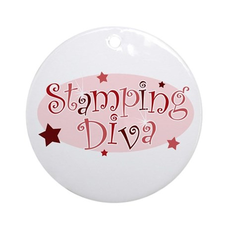"""""""Stamping Diva"""" [red] Ornament (Round)"""