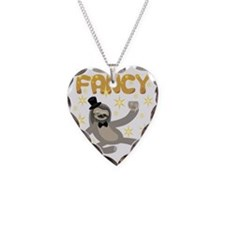 Fancy Sloth Necklace Heart Charm
