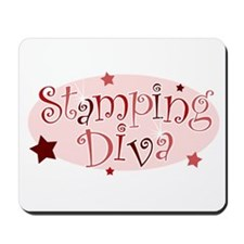 """""""Stamping Diva"""" [red] Mousepad"""