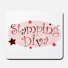 """Stamping Diva"" [red] Mousepad"