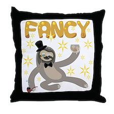 Fancy Sloth Throw Pillow