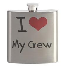 I love My Crew Flask