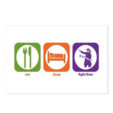 Eat Sleep Fight Fires Postcards (Package of 8)