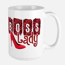 Boss Lady Red Leopard Mugs