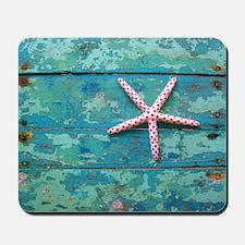 Starfish and Turquoise Seashore Mousepad