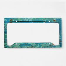 Starfish and Turquoise Seasho License Plate Holder