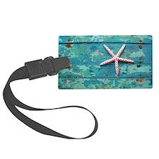 Starfish and Turquoise Seashore Luggage Tag