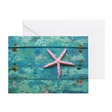 Starfish and Turquoise Seashore Greeting Card