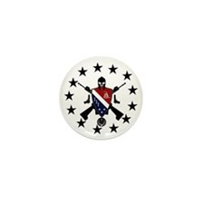 Three Percent Coat of Arms Mini Button