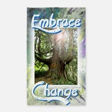 Embrace Change Discover, Uncover, A 3'x5' Area Rug