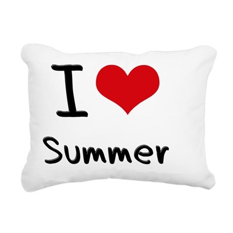 I love Summer Rectangular Canvas Pillow