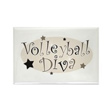 """""""Volleyball Diva"""" [brown] Rectangle Magnet"""