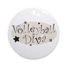"""Volleyball Diva"" [brown] Ornament (Round)"