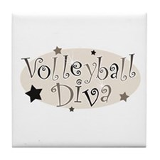 """""""Volleyball Diva"""" [brown] Tile Coaster"""