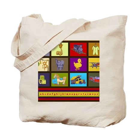 Baby Boy Animals Toys ABC Tote Bag